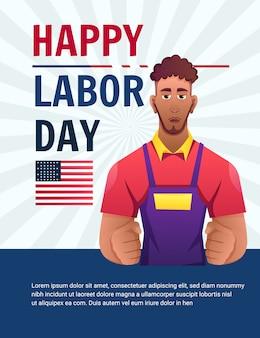 Happy labour day arbeiter schwarze männer usa