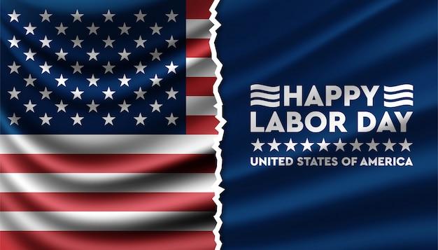 Happy labour day hintergrundvorlage der vereinigten staaten von amerika.