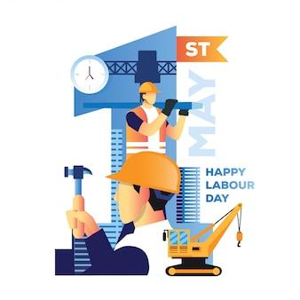 Happy labour day illustration