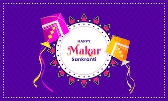 Happy Makar Sankranti Hintergrund.