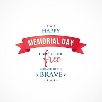 Happy memorial day-banner