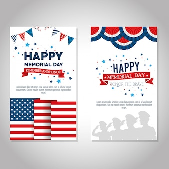 Happy memorial day feier set flyer