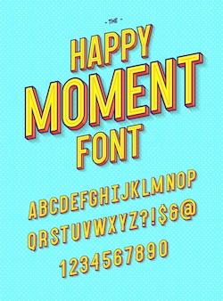 Happy moment schriftart moderne typografie