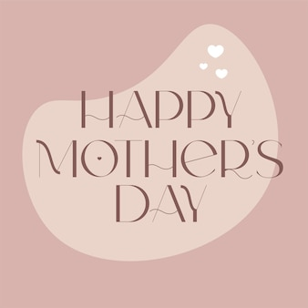 Happy mother day design für karteneinladungsplakate