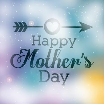 Happy mothers day design schriftzug