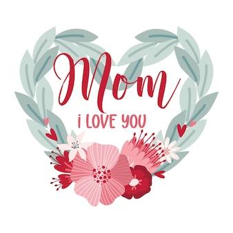 Happy mothers day schriftzug grußkarten mit blumen beste mama aller zeiten