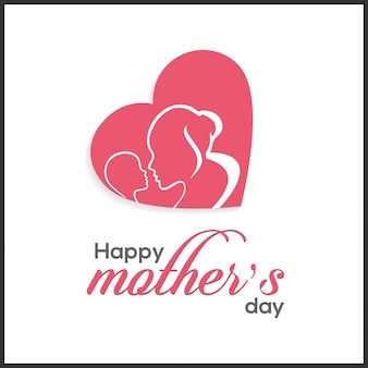 Happy mothers day schriftzug handmade kalligraphie vektor-illustration mothers day-karte