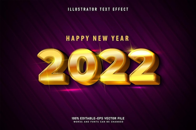 Happy new year text effect templat