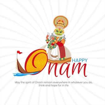 Happy onam festival banner design-vorlage