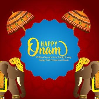 Happy onam festival feier hintergrund