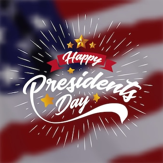 Happy Presiidents Day Banner Hintergrund und Grußkarte
