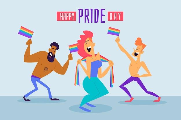 Happy pride day illustration