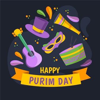 Happy purim day event konzept