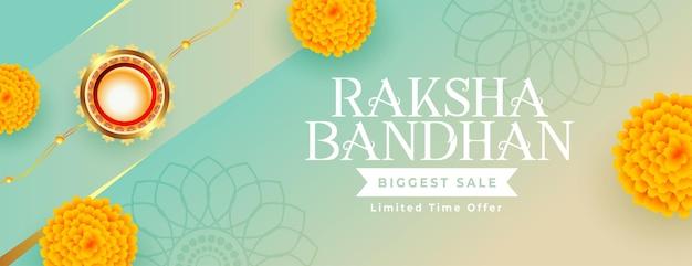 Happy raksha bandhan festival sale banner design