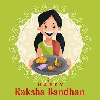 Happy raksha bandhan indian festival banner design-vorlage