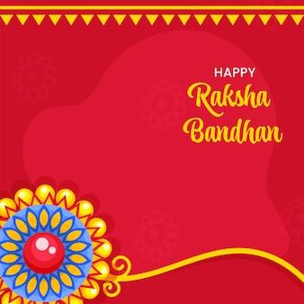 Happy raksha bandhan konzept mit floralem rakhi