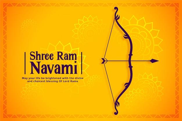 Happy ram navami festival wünscht kartenhintergrund