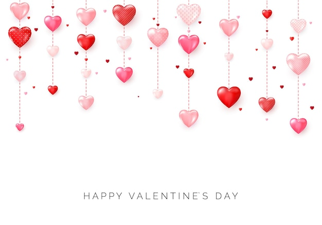 Happy saint valentines tageskarte
