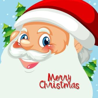 Happy Santa Gesicht Vorlage