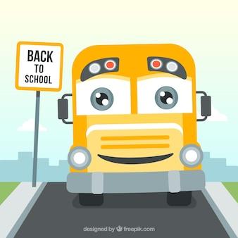 Happy school bus hintergrund