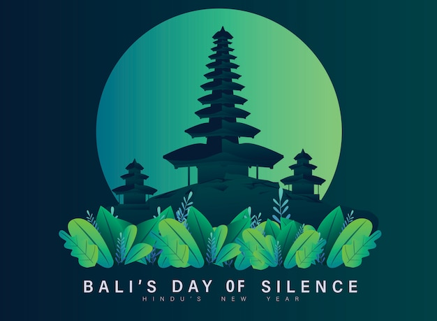 Happy silence's day von bali flat design