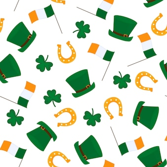 Happy st.patrick's day nahtloses muster.
