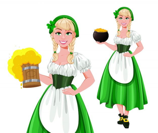 Happy st. patricks day, zwei posen