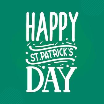Happy stpatricks day st patricks day zitat premium-vektor