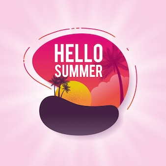 Happy summer sale banner. bunte vektorabbildung