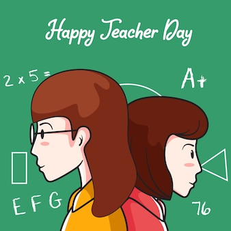 Happy teacher day hintergrund
