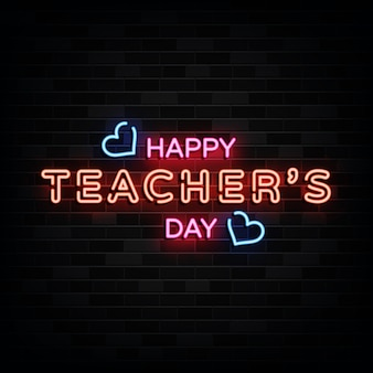 Happy teacher day leuchtreklamen
