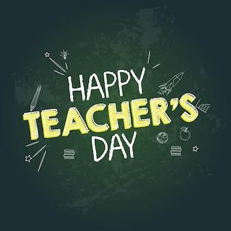 Happy teacher's day banner design vorlage
