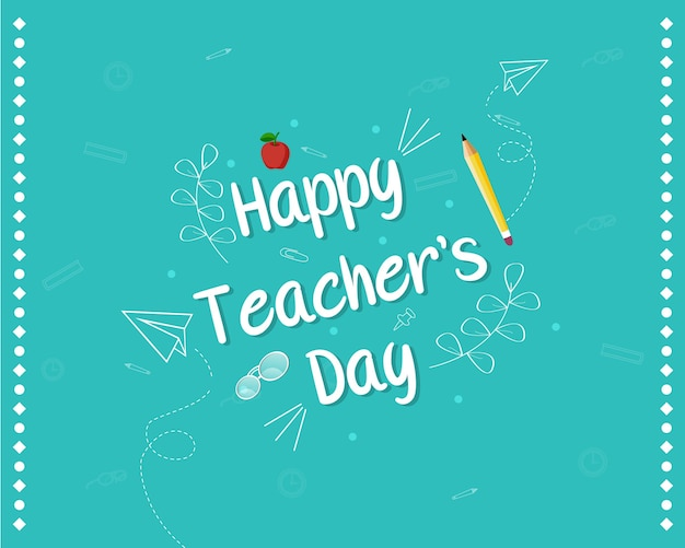Happy teacher's day banner design