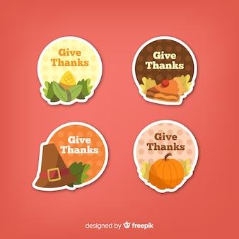 Happy thanksgiving abzeichen sammlung