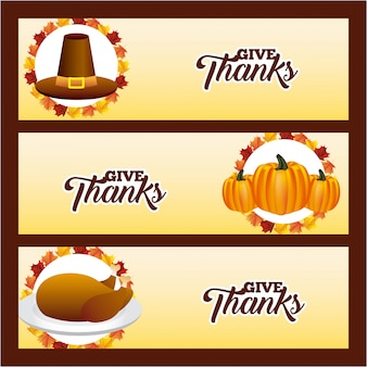 Happy thanksgiving-banner