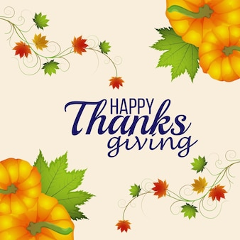 Happy thanksgiving day feier grußkarte