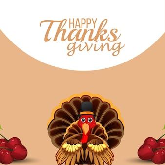 Happy thanksgiving day feier hintergrund
