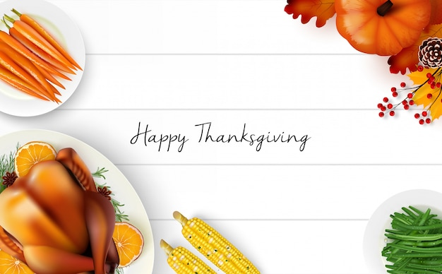 Happy thanksgiving day hintergrund