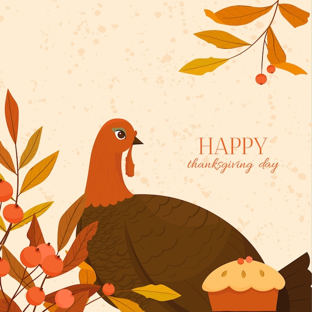 Happy thanksgiving day illustration.