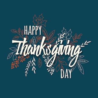 Happy thanksgiving day karte