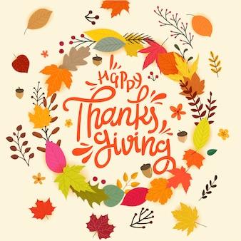 Happy thanksgiving day, konzept