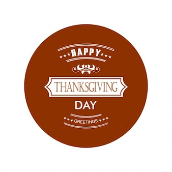 Happy thanksgiving day-label-design
