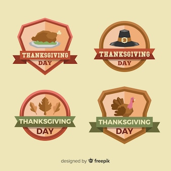 Happy thanksgiving day label sammlung