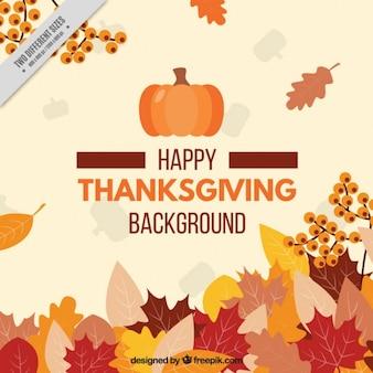 Happy thanksgiving day mit einem floralen hintergrund