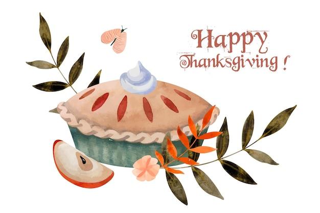 Happy thanksgiving day postkarte