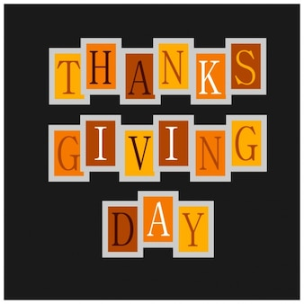 Happy thanksgiving day typographie karte