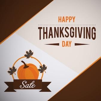 Happy thanksgiving day verkauf kürbis hintergrund
