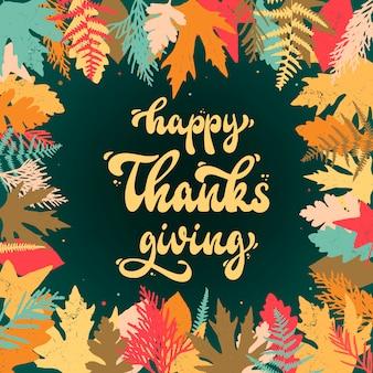 Happy thanksgiving-grußkarte