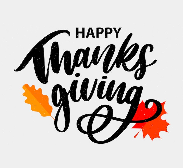 Happy thanksgiving hand schriftzug