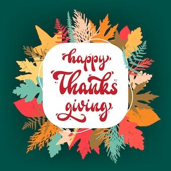 Happy thanksgiving hintergrund